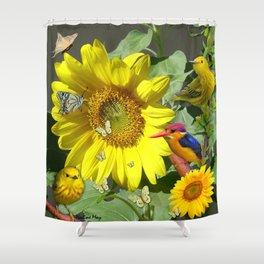 Sunflower feast Shower Curtain