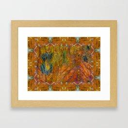 Texas Plume Agate Framed Art Print