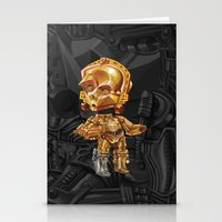 c3po Stationery Cards featuring C3PO by oRen