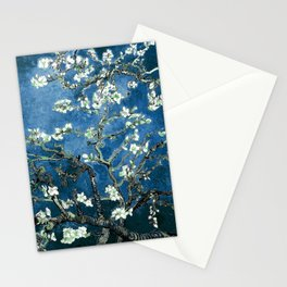 Van Gogh Almond Blossoms : Ocean Blue Stationery Cards