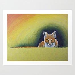 Autumn Fox (2015) Art Print
