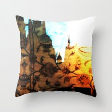 Halle in a Carpet Image 1 Throw Pillow