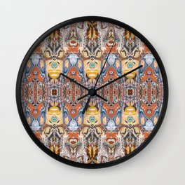 Abstract Tribal Pattern Wall Clock