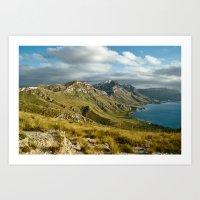 Mallorcan coast and mountains Art Print