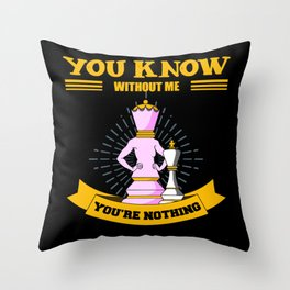 Chess, Chess Bishop, Chess Rook Throw Pillow