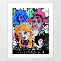 modern vampires of art history Art Prints featuring Vampires by Vicious East