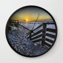 Sand Covered Steps Wall Clock