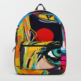 Looking for the third eye street art graffiti Backpack
