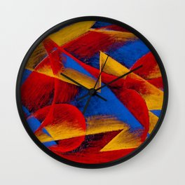 Line of Speed by Giacomo Balla Wall Clock