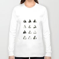triangles Long Sleeve T-shirts featuring triangles by LEEMO