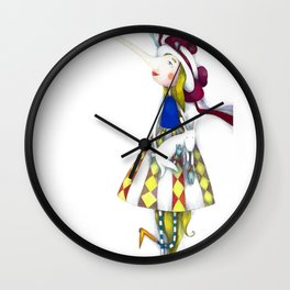 "Illustration for the picture book ""Nonsense Poems for Kids"" 4 Wall Clock"