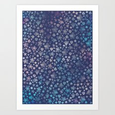 Dream Flora Indigo Art Print