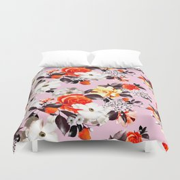 Photographic summer florals - D&G inspired - PINK Duvet Cover