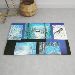 """ Winter Collage II "" Rug"