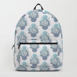 Paisley Capricornus | Turquoise Blue Ombré Backpack