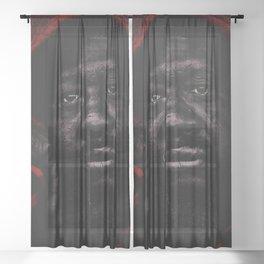 Portrait of a Black Man 'American Skin' by Jeanpaul Ferro Sheer Curtain