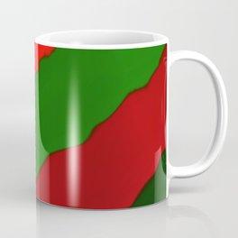 Bright Christmas Diagonal Stripes Coffee Mug