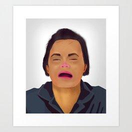 Mugshot Lady 1 Art Print