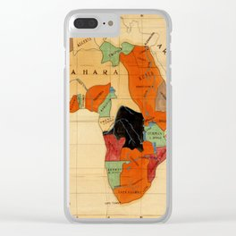 Map Of Africa 1908 Clear iPhone Case