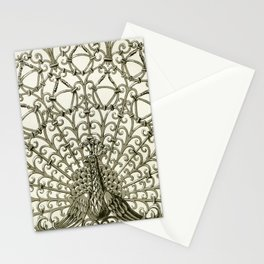Maurice Pillard Verneuil - Paon, grille fer forgé Stationery Cards