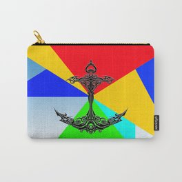 Anchor Abstract Colorful Carry-All Pouch