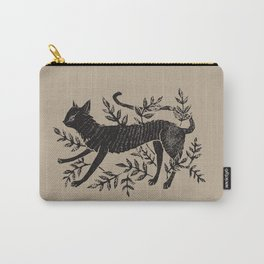 Cat in Vines Carry-All Pouch