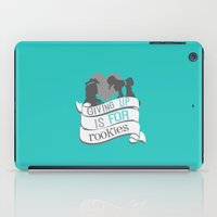 hercules iPad Cases featuring hercules.. giving up is for rookies... meg and hercules by studiomarshallarts