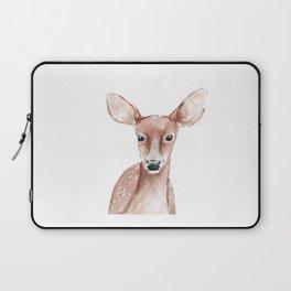 Deer Fawn Watercolor painting Laptop Sleeve