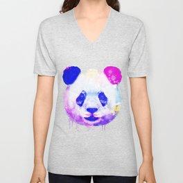 Panda Watercolor, Panda Print, Watercolor Print, Watercolor Animal, Panda Painting, Panda Gift Print Unisex V-Neck