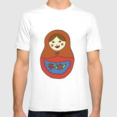 1 Matroyshka Doll White MEDIUM Mens Fitted Tee