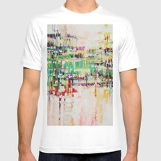ABSTRACTION island MEDIUM Mens Fitted Tee White