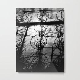 Light Shines Through Metal Print