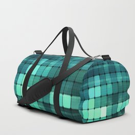 Techno Aqua Pattern Duffle Bag