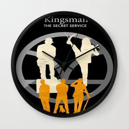 Kingsman- The Secret Service Minimalist Poster Wall Clock