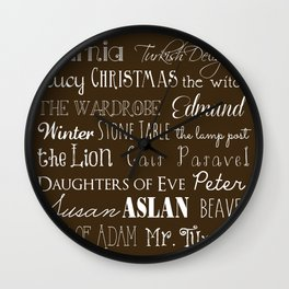 Narnia Celebration - Mocha Wall Clock