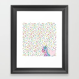 Rainbow the Unicorn Starstruck Framed Art Print
