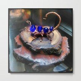 Copper Wire Scorpion Sculpture Metal Print