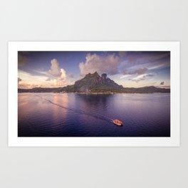 Māuruuru Roa, Bora Bora Art Print