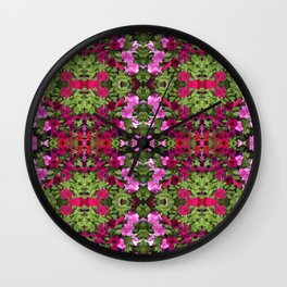 Red Rug Wall Clock