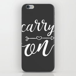 Carry On Calligraphy Arrowheart iPhone Skin