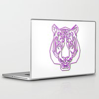 rave Laptop & iPad Skins featuring Tiger Rave by James Thornton