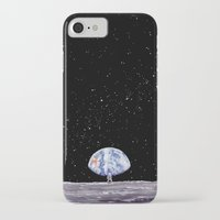 neil gaiman iPhone & iPod Cases featuring Neil Armstrong by Enrico Barin Guarise