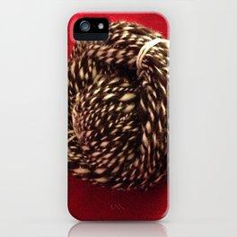 Chocolate Escher Handspun Art Yarn iPhone Case