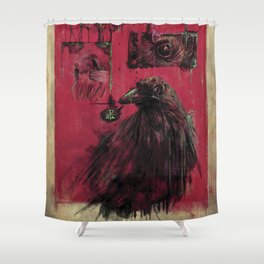Edgar Allan Poe (Nevermore) Shower Curtain