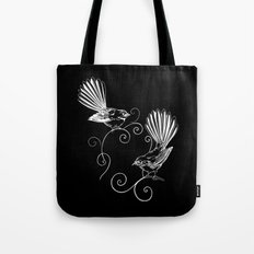 White Fantails  Tote Bag
