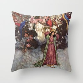 Beauty by Edmund Dulac Throw Pillow