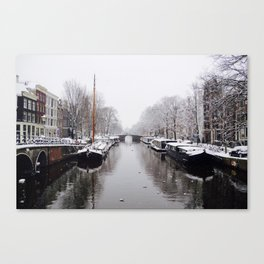 Winter in Amsterdam Canvas Print