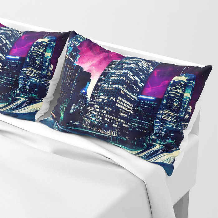 Spacey Los Angeles Pillow Sham