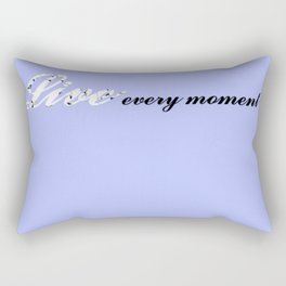 Live Every Moment (Light Blue) Rectangular Pillow