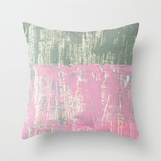 overlapping textures Throw Pillow